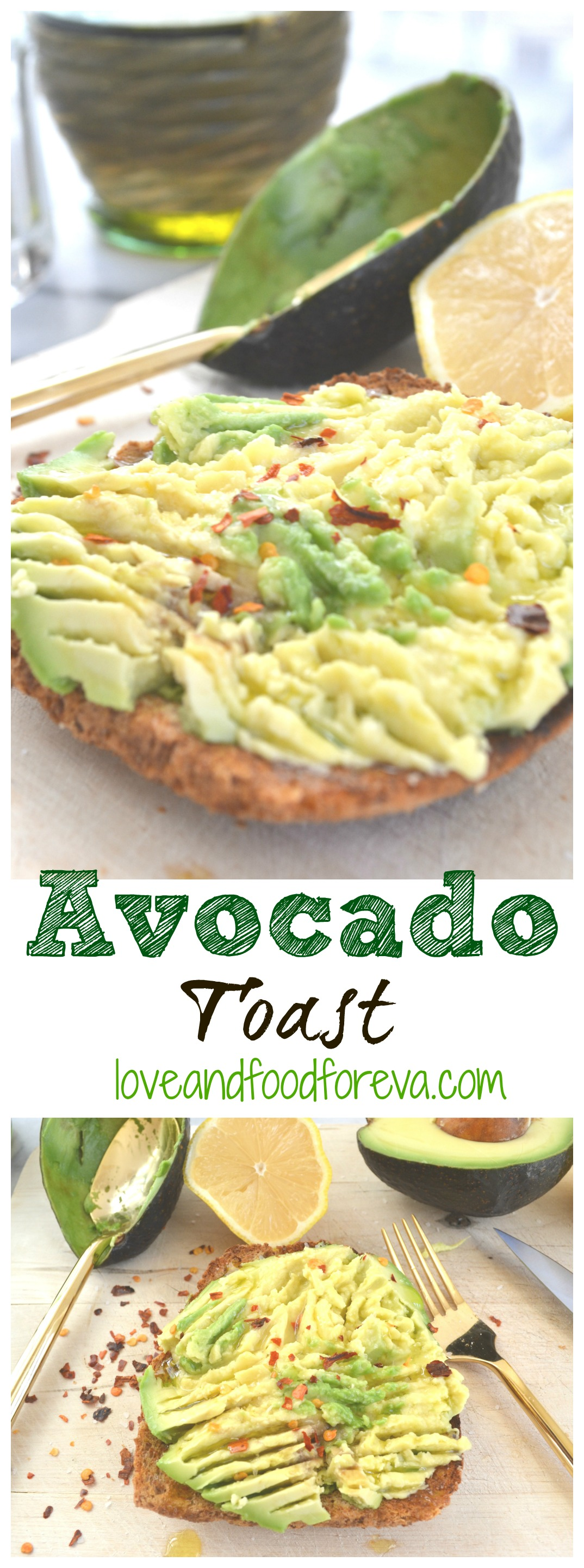 Avocado Toast - a quick, healthy, and filling breakfast!