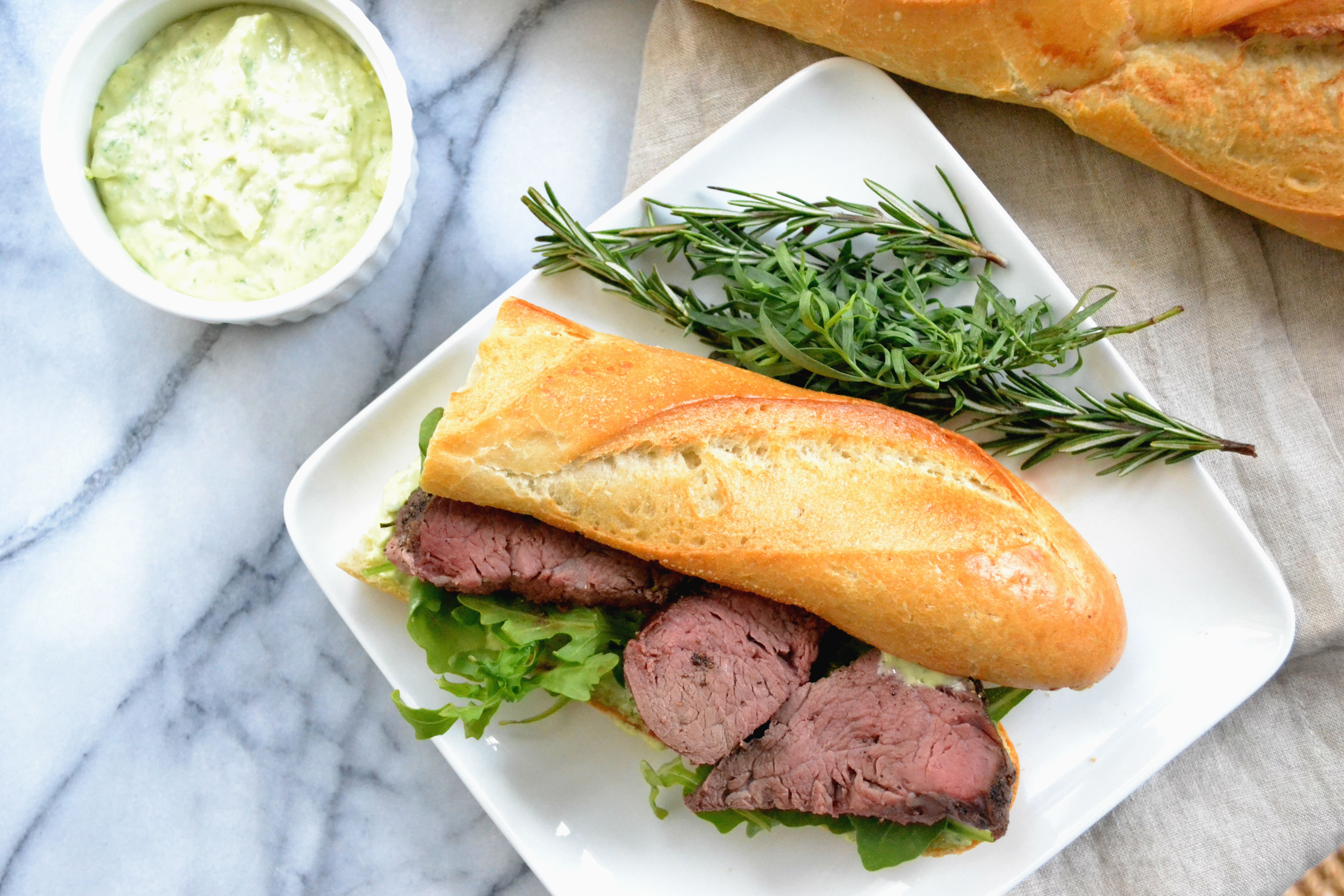 Herb-Roasted Filet of Beef Sandwich