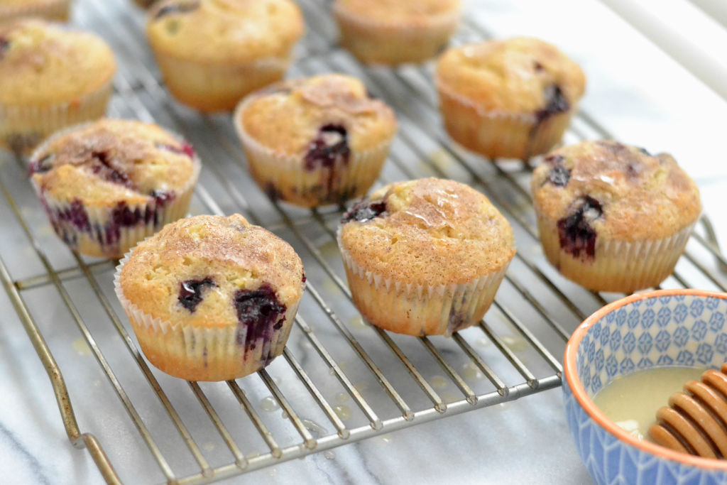 Dairy Free Blueberry Muffins closeup