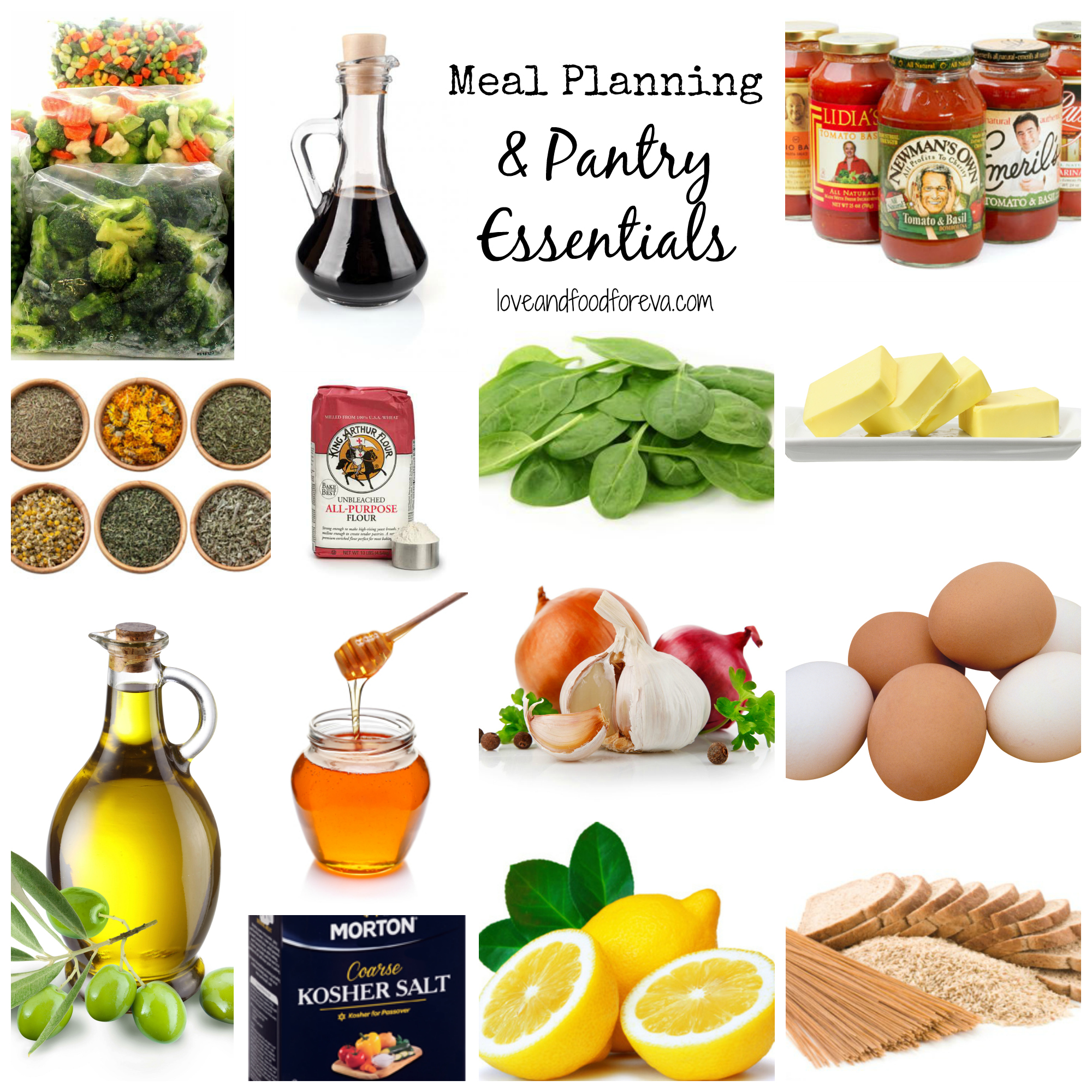 Meal Planning Pantry Essentials Love Food ForEva – Meal Planning