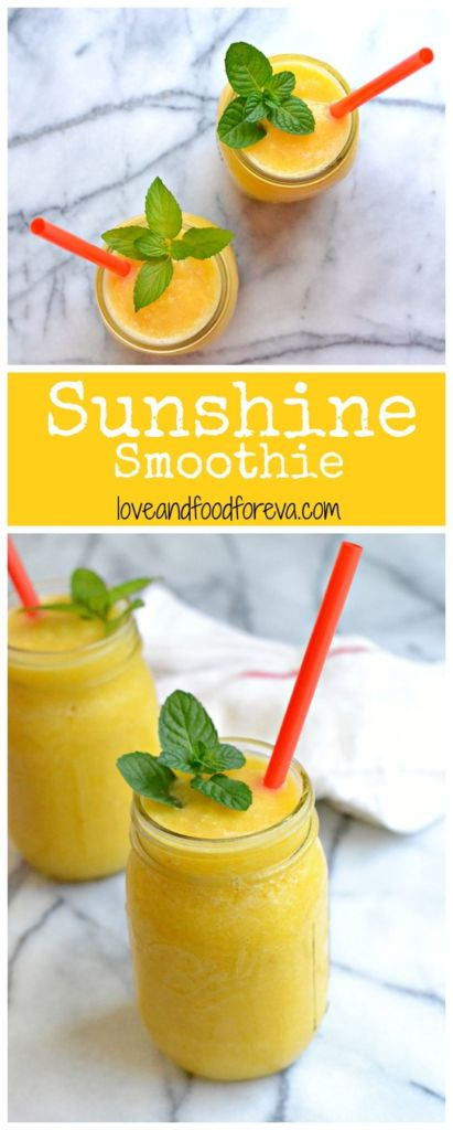 A bright, healthy, and sweet smoothie perfect for giving you an energy boost!