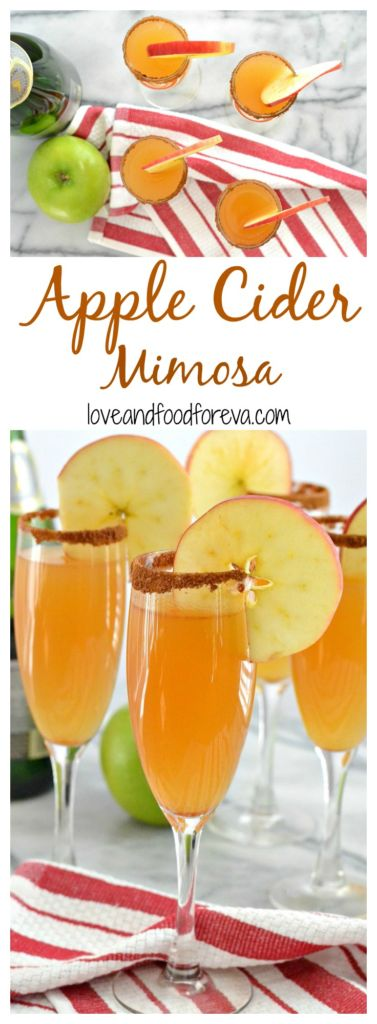 These 2-ingredient Apple Cider Mimosas are the perfect addition to your Thanksgiving menu: so delicious and super easy!