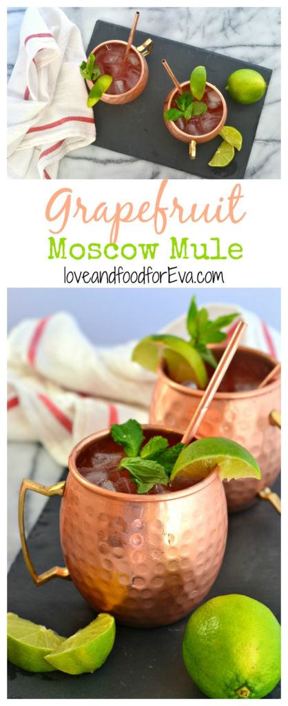 Ring in the new year with a festive twist on a classic cocktail: Grapefruit Moscow Mule! Sweet, tangy, effervescent, and so delicious!