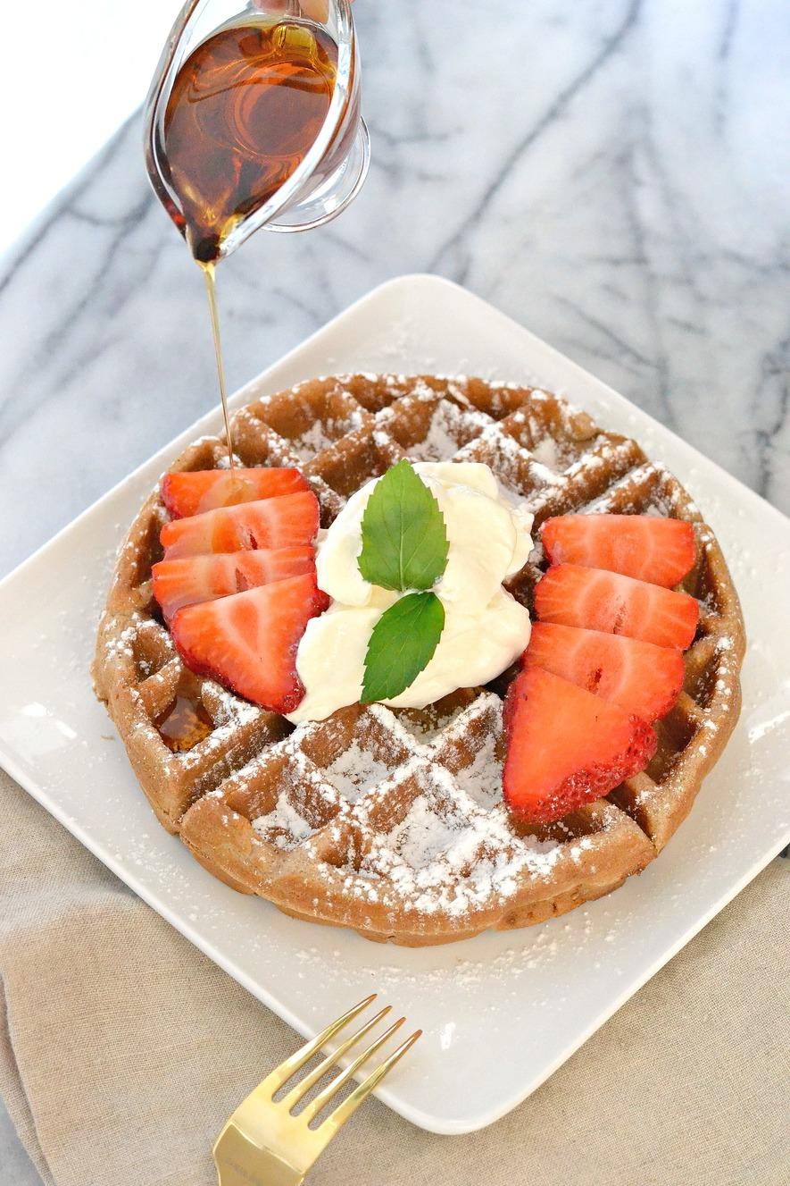 Cinnamon Belgian Waffles - Love & Food ForEva
