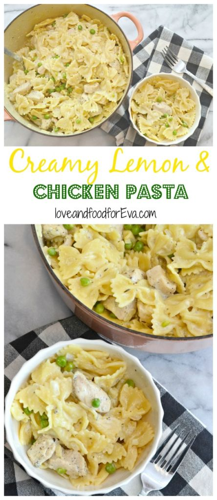This one-pot meal of Creamy Lemon and Chicken Pasta is sure to satisfy you and everyone in your family! Simple, delicious, and easy cleanup!
