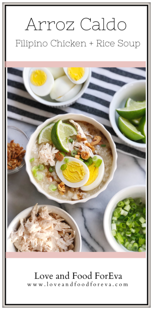 Filipino rice and chicken porridge, that packs a serious flavor punch with the help of ginger, onions, and garlic - simple yet so delicious, and an amazing alternative to chicken noodle soup!