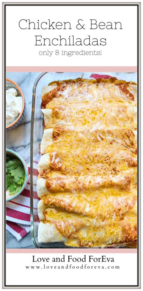 This 8-ingredient wonder is the perfect make ahead meal for any night of the week. Weeknight Enchiladas are packed with chicken, beans, and cheese – guaranteed to make everyone in your house a fan!